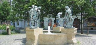 Танцующий фонтан Чешские музыканты