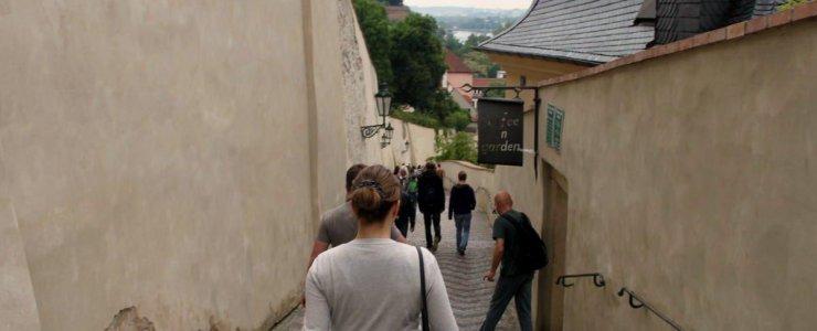 Старая замковая лестница