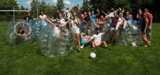 Футбол в надувных шарах Crazy Bubbles
