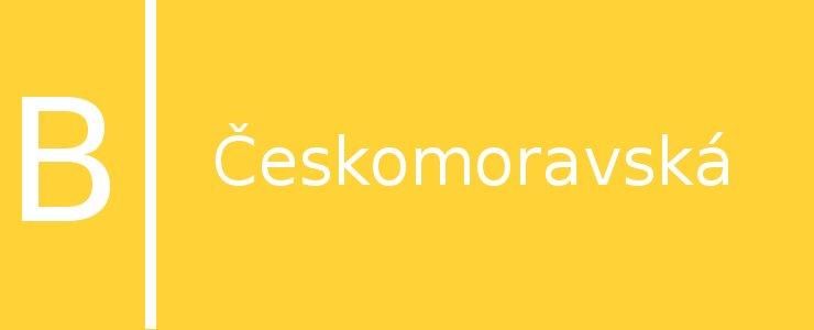 Станция метро Českomoravská