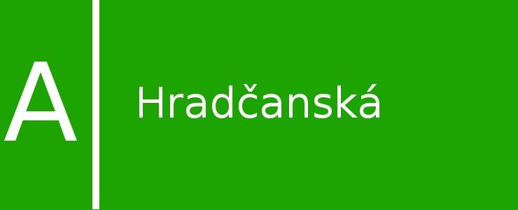 Станция метро Hradčanská