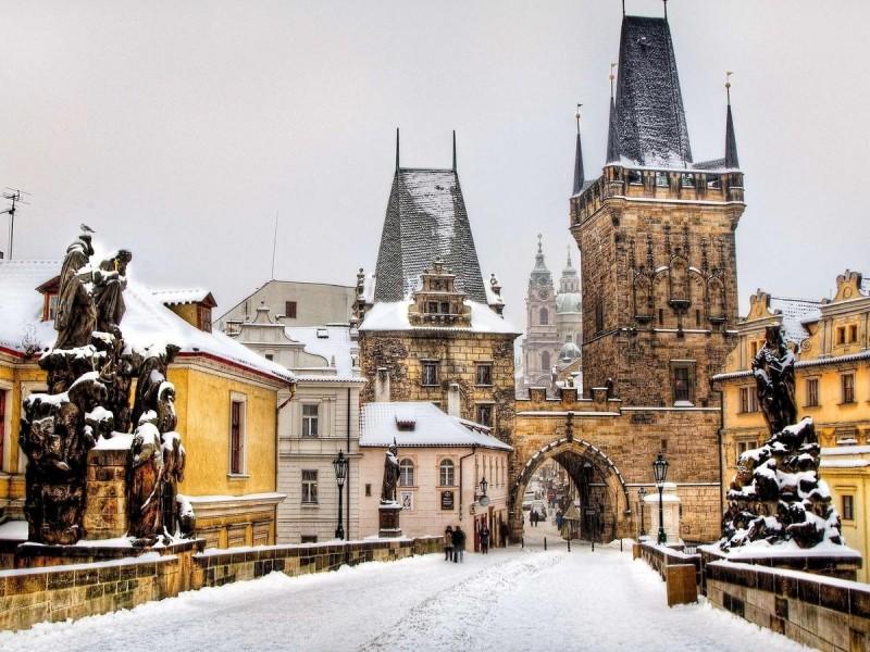Новый Год в Праге - утро