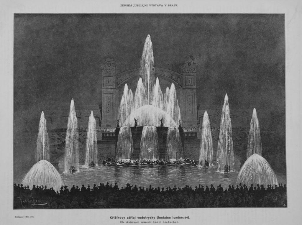 Кржижиковы фонтаны - история