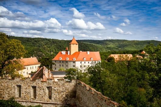 Замок Вевержи сверху