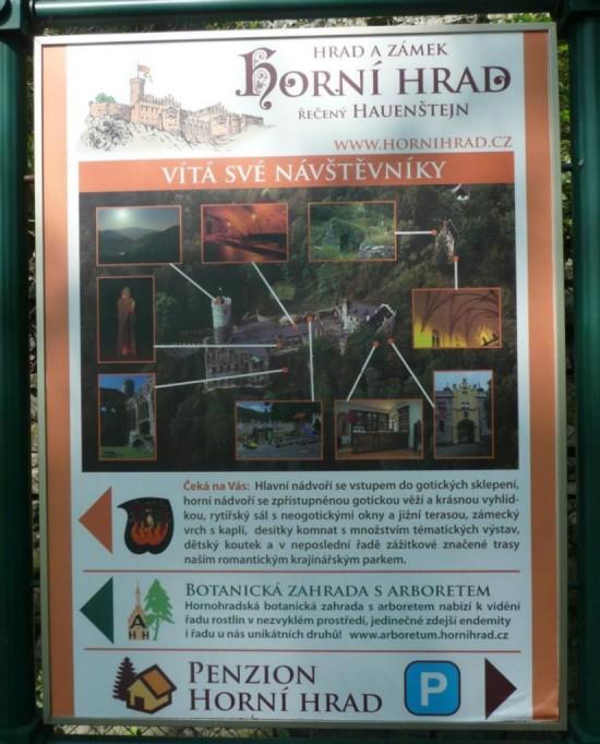 Замок Горни Град - вывеска