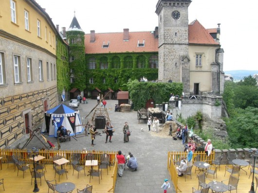 Замок Груба Скала - внутри