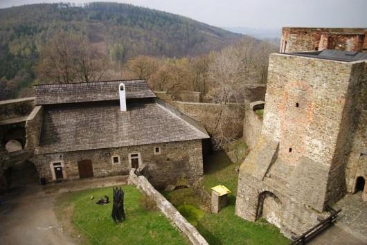 Замок Гельфштын - стена