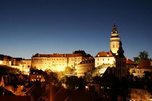 Замок Крумлов - ночью
