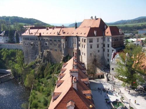 Замок Крумлов - сбоку