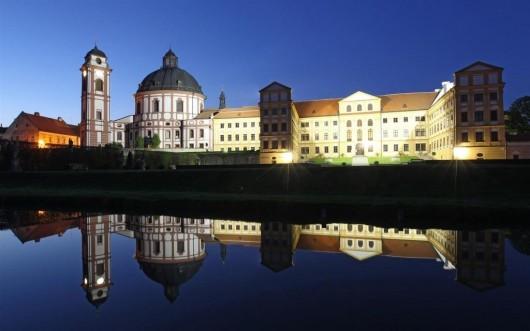 Замок Яромержице-над-Рокитной - вечером