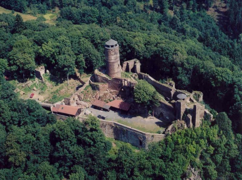 Замок Гасиштейн - сверху