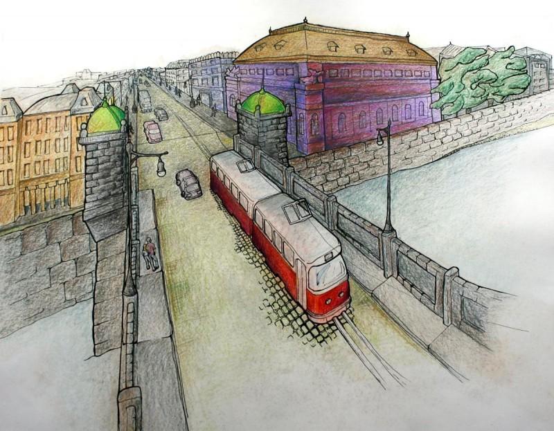 Майские праздники в Праге - рисунок
