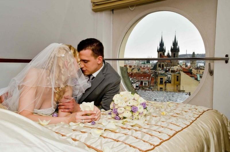 Свадьба в Праге зимой