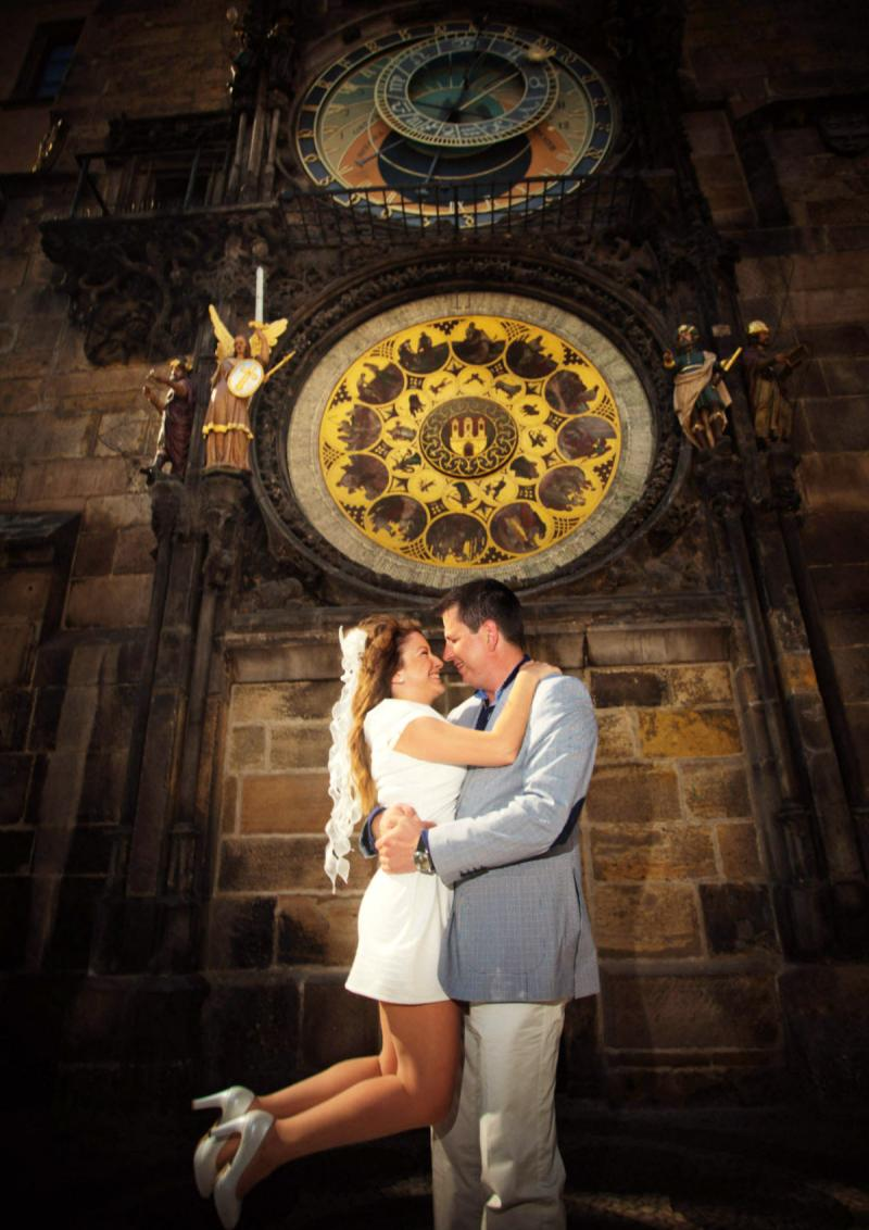 Свадьба в Праге - часы