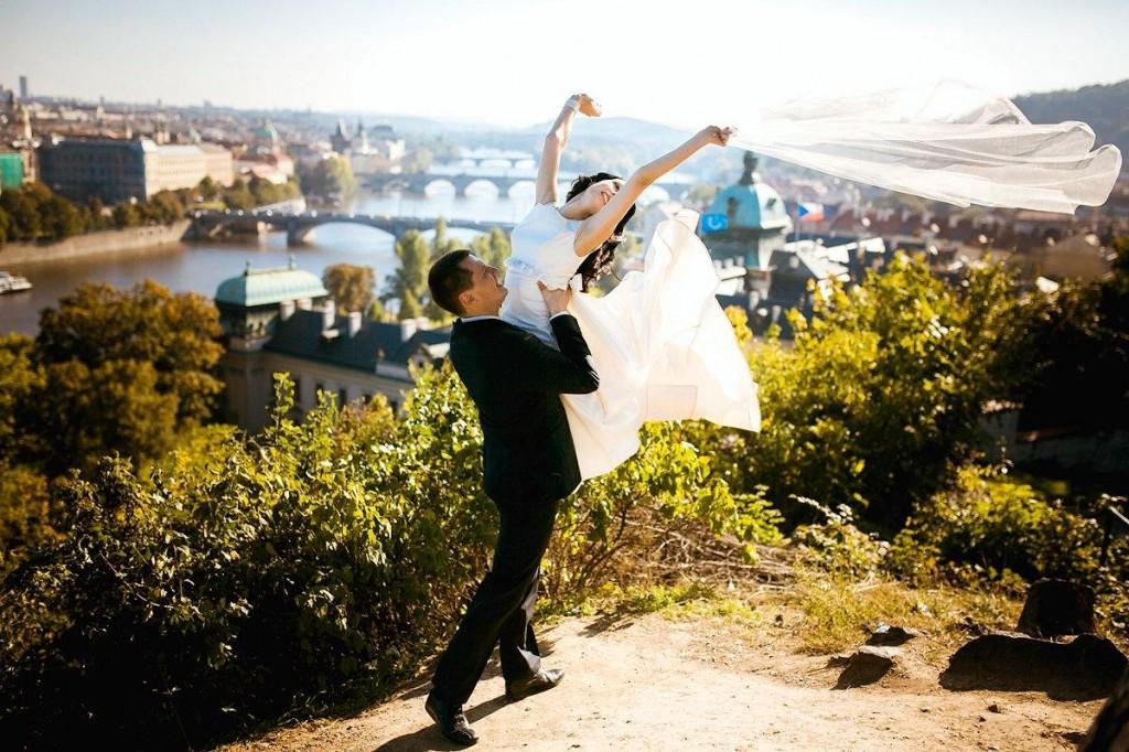 Свадьба в Праге  городе влюбленных