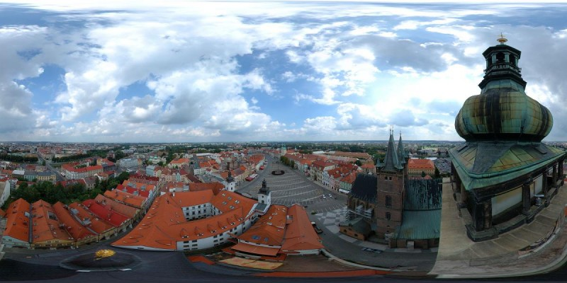 Градец-Кралове - панорама