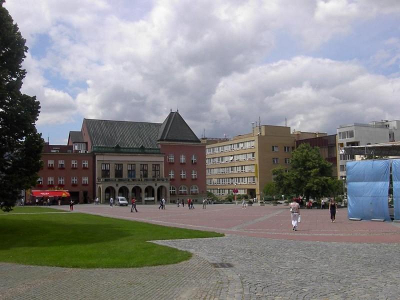 Злин - площадь