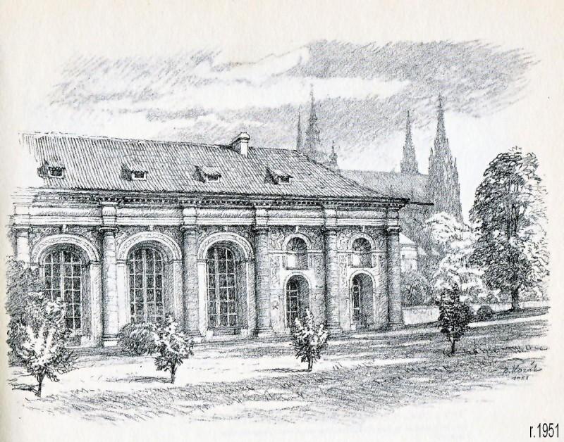 Мячовна на Пражском Граде - история