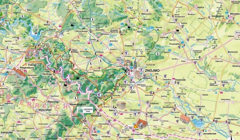 Карта Znojmo
