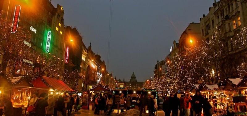 Рождественская сказка на Вацлавской площади