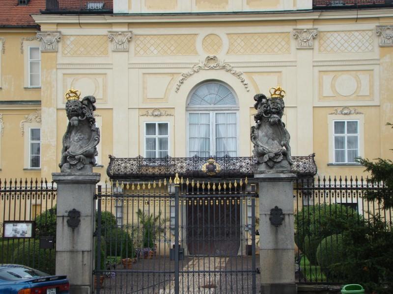 Замок Горжовице - вход