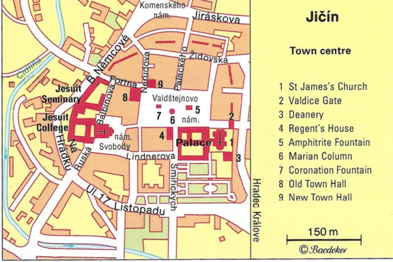 Йичин - карта