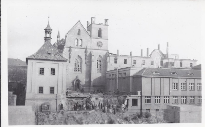 Эммаусский монастырь - после войны