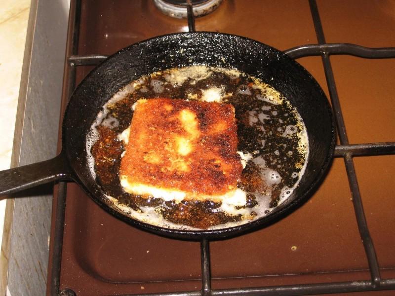 Рецепт жаренного сыра 3