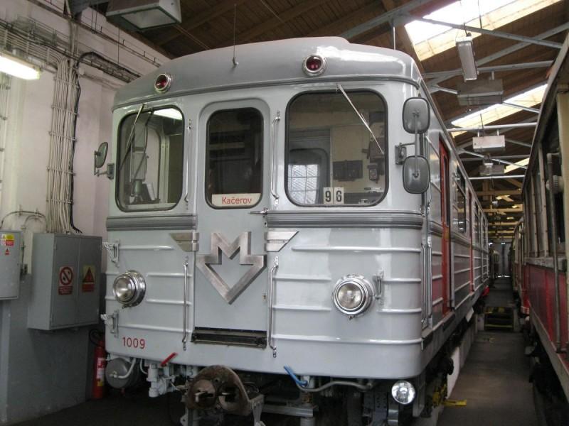 Музей общественного транспорта - поезд метро