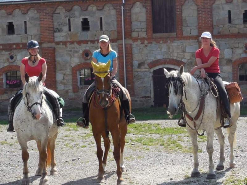 Конные прогулки по замку Скалице