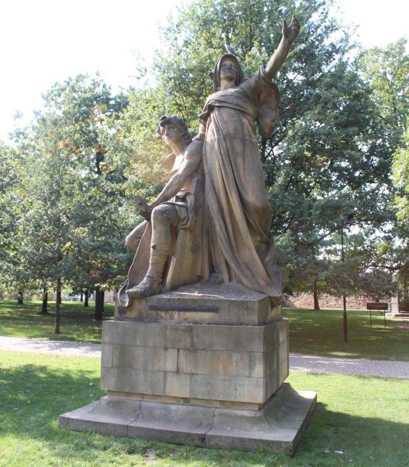 Скульптура Пржемысл и Либуше